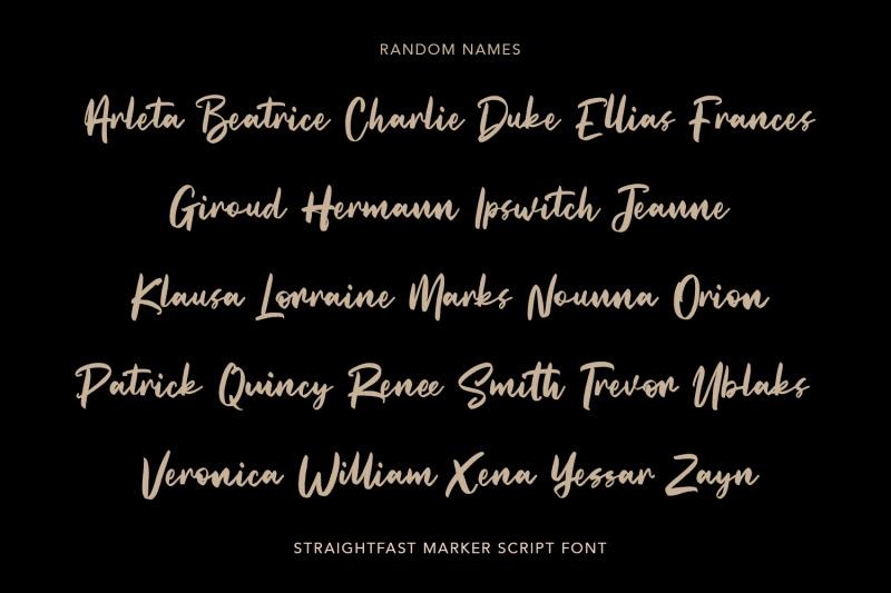 straightfast-marker-script-font