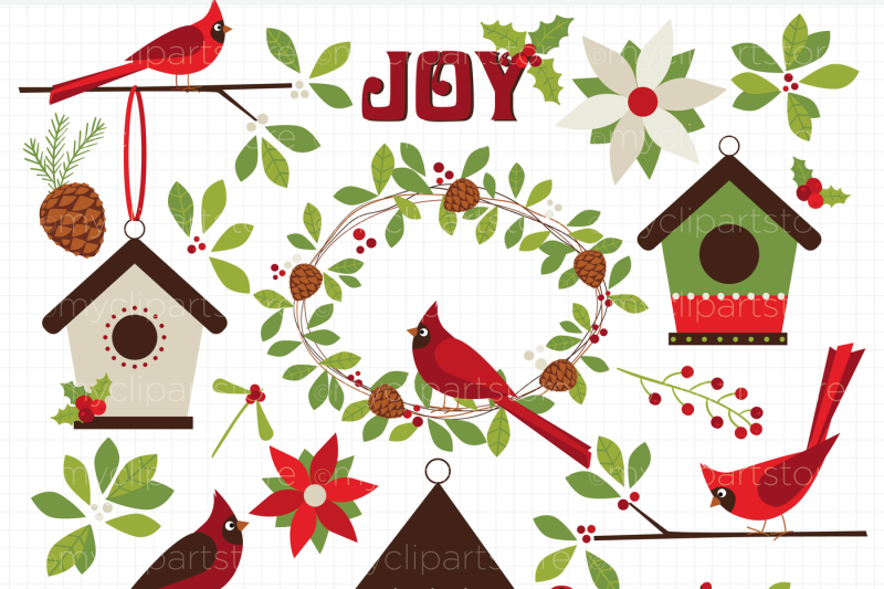 christmas-red-cardinals-vector-clipart