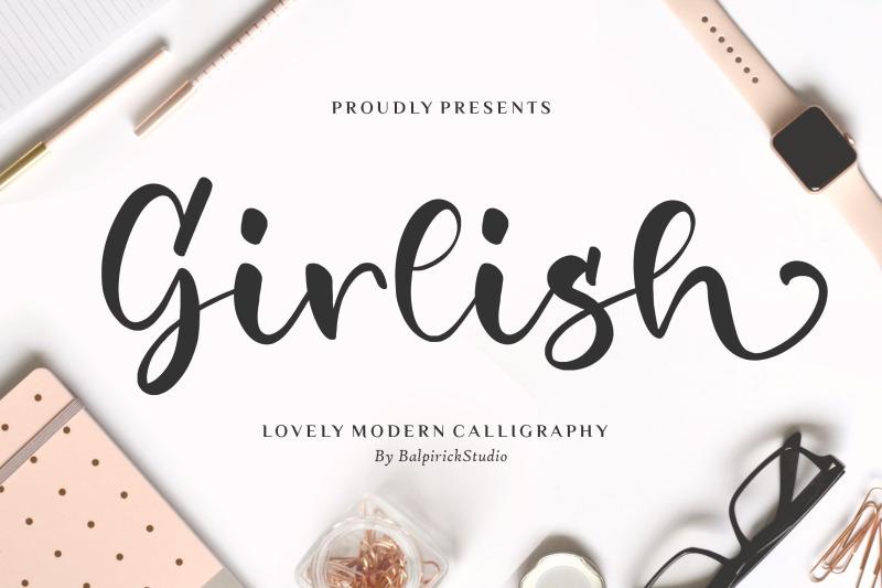 girlish-lovely-modern-calligraphy-font