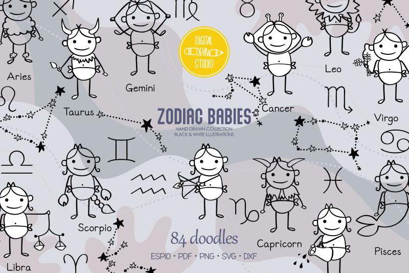 hand-drawn-zodiac-baby-boys-amp-girls-astrology-signs-constellations