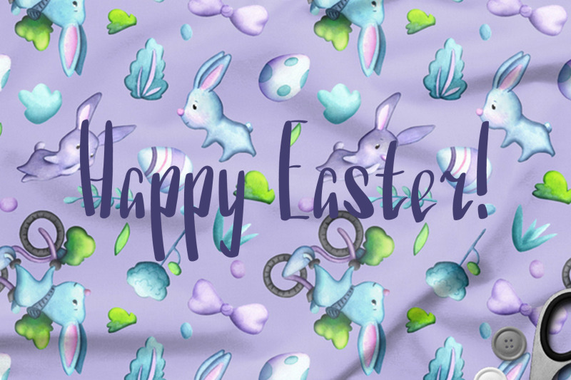 watercolor-easter-egg-seamless-pattern-set