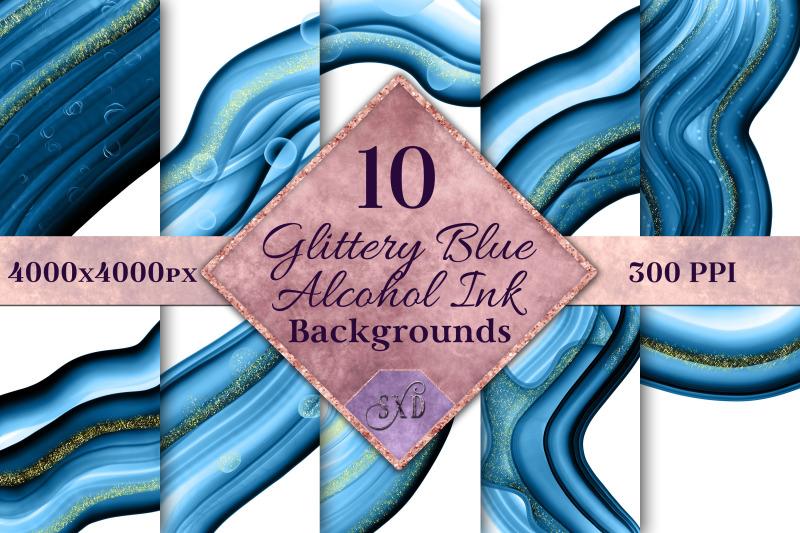 glittery-blue-alcohol-ink-backgrounds-10-image-set