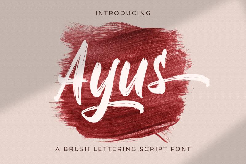ayus-handbrush-script-font