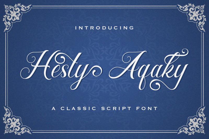 hesty-aqaky-modern-script-font