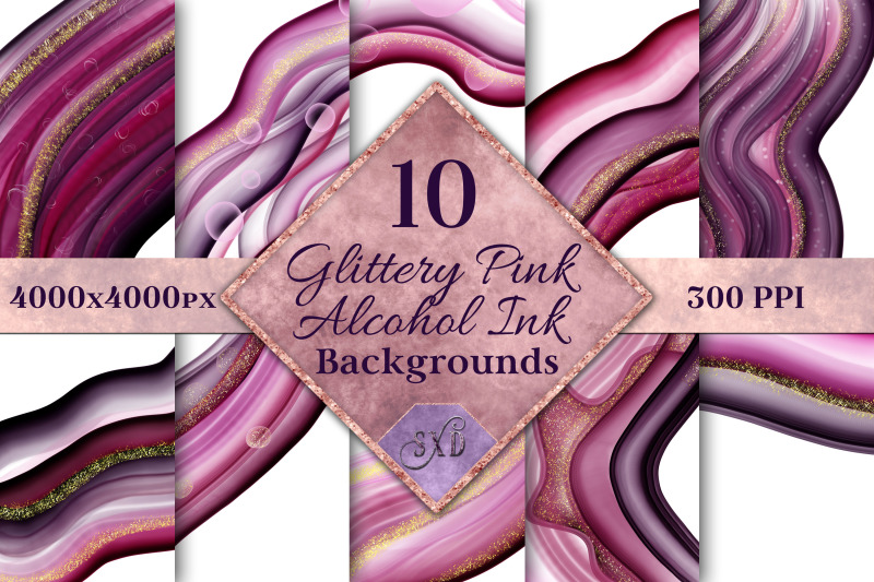 glittery-pink-alcohol-ink-backgrounds-10-image-set