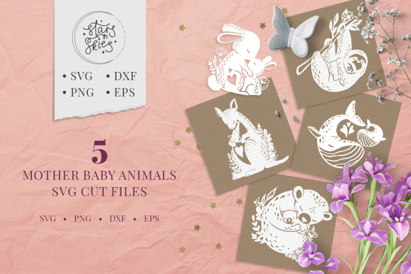 mother-baby-animals-svg-cut-files