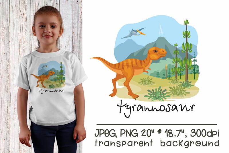 tyrannosaur-sublimation-design-png