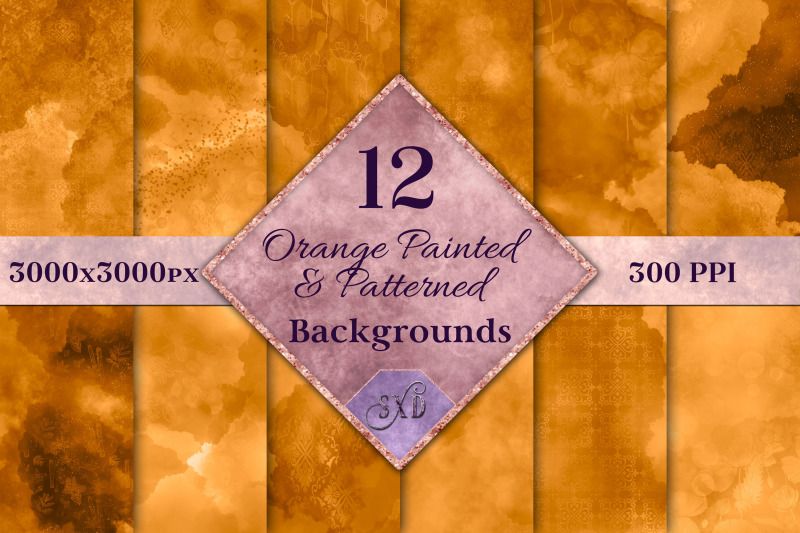 orange-painted-and-patterned-backgrounds-12-image-textures