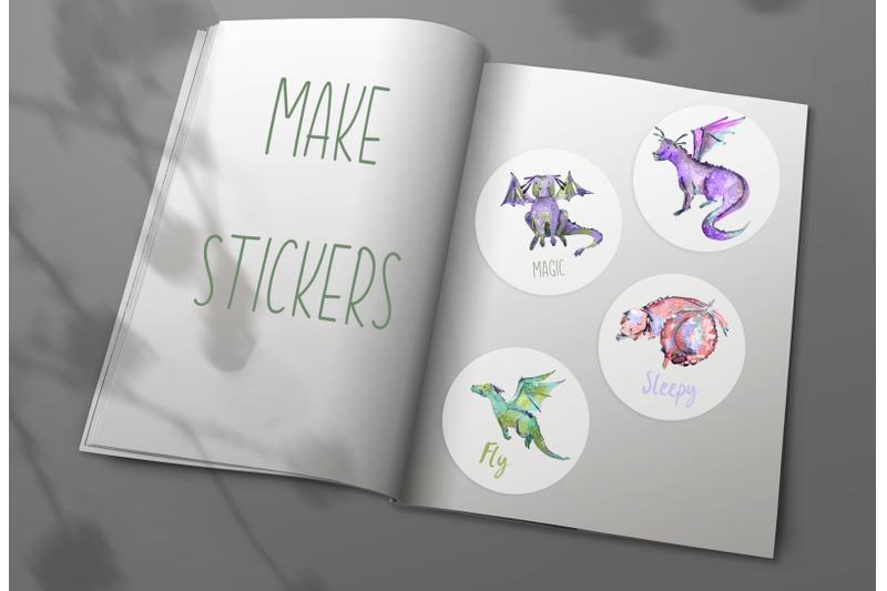 cute-colored-dragons-clip-art-set