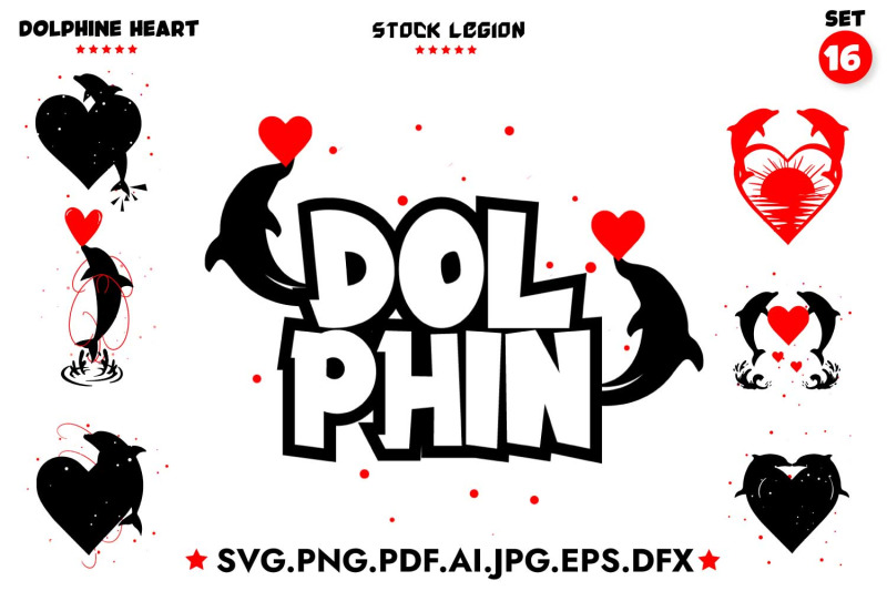 16-dolphin-heart-svg-bundle