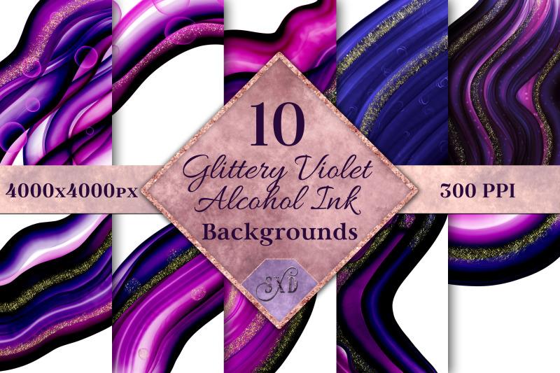 glittery-violet-alcohol-ink-backgrounds-10-image-set