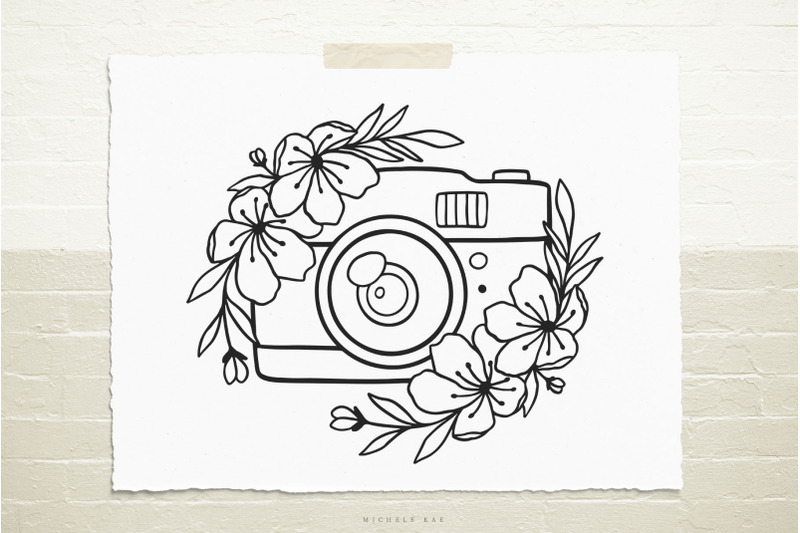camera-with-flowers-svg-cut-file