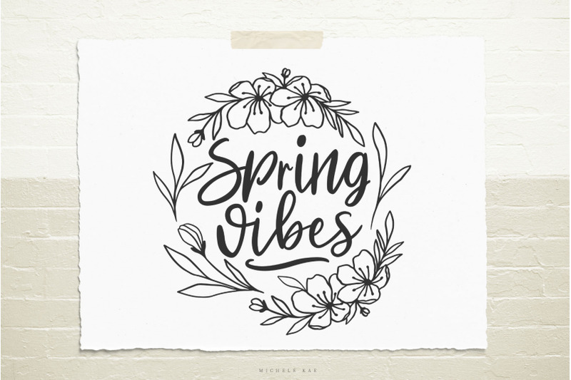spring-vibes-quote-with-flowers-svg-cut-file