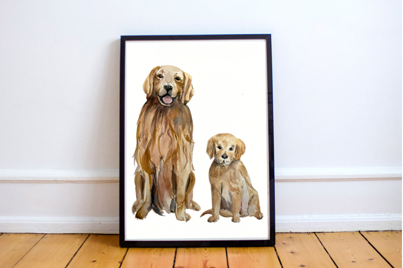 watercolor-dog-and-puppy-clip-art