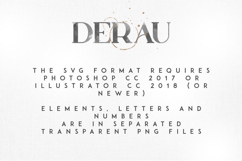 derau-bitmap-svg-font-and-more