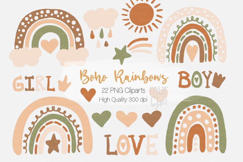 boho-rainbows-cliparts