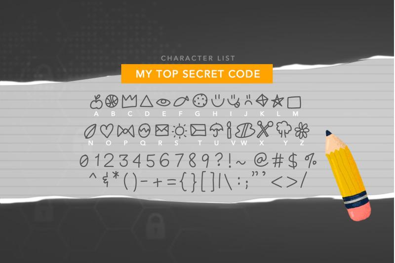 my-top-secret-code-font