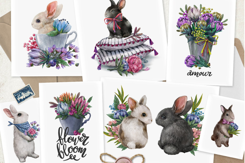 rabbits-and-flowers-collection