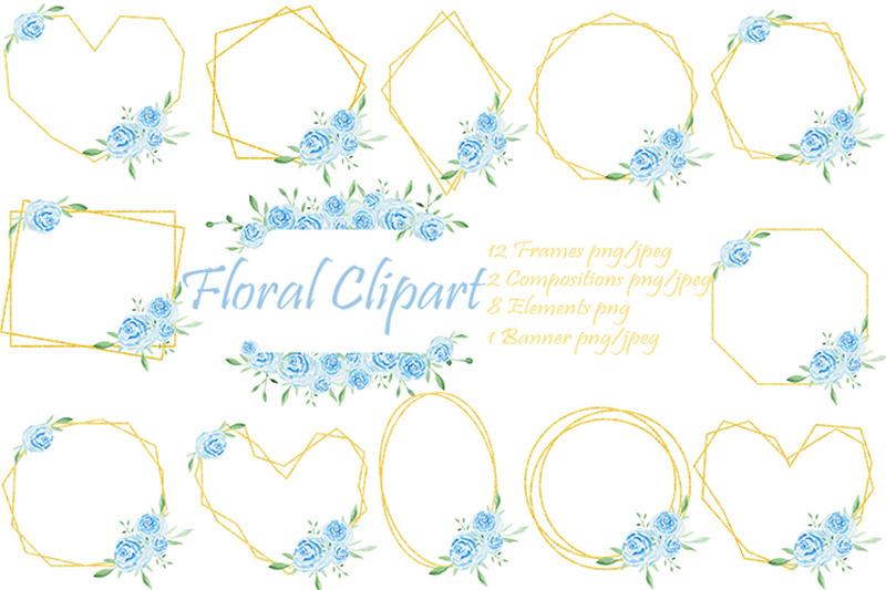 frames-gold-flowers-floral-clipart-watercolor-bouquet