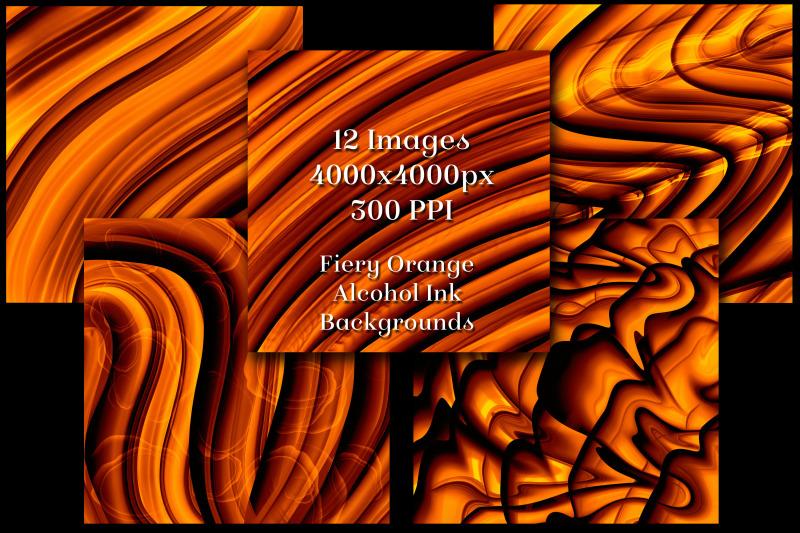fiery-orange-alcohol-ink-backgrounds-12-image-set