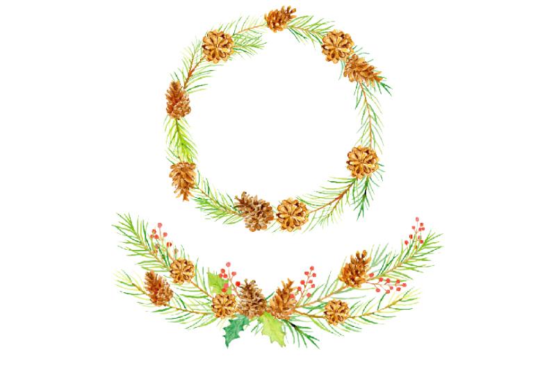 watercolor-clipart-dancing-pine