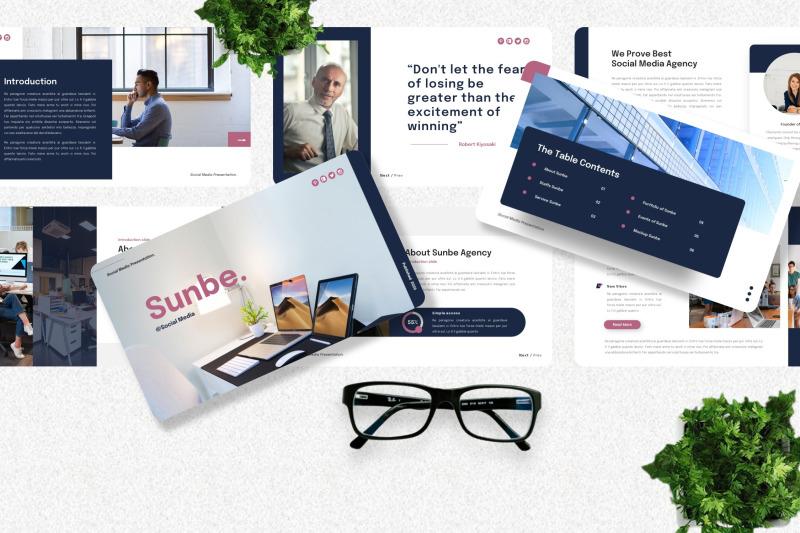 sunbe-social-media-googleslide-template