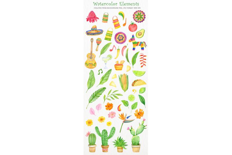 watercolor-mexican-fiesta-clipart-set-cinco-de-mayo-summer-taco