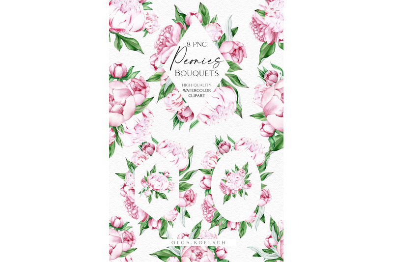 watercolor-pink-peonies-clipart-watercolor-boho-floral-frames-png