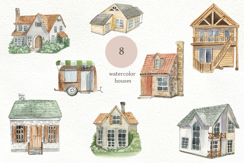 watercolor-houses