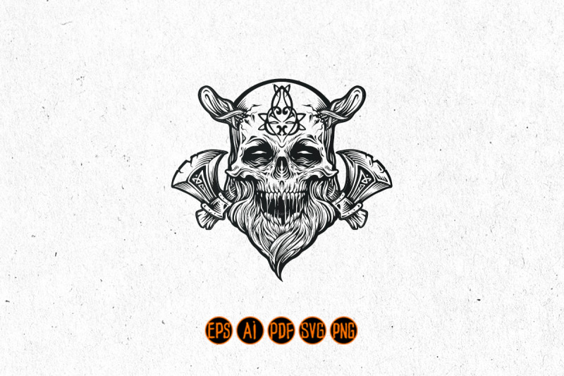 skull-viking-warrior-with-axe