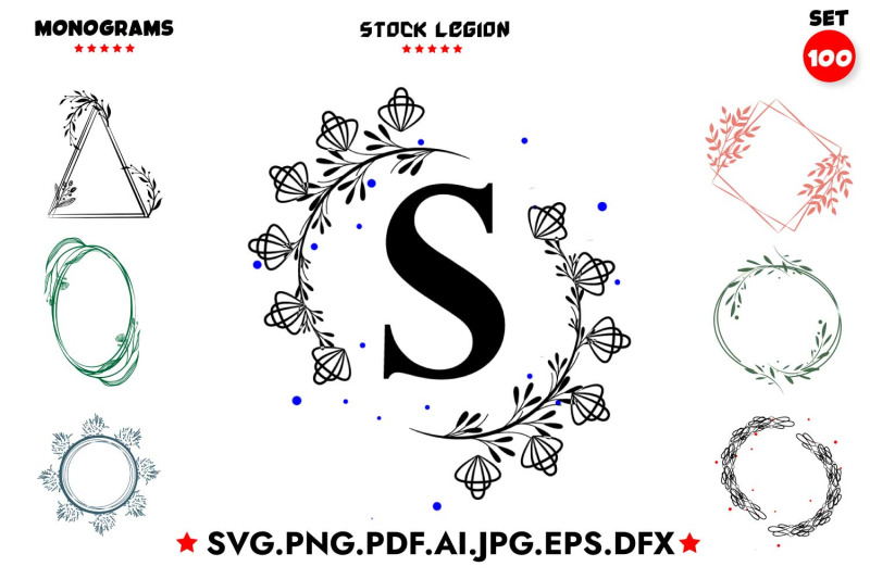 100-monograms-svg-bundle