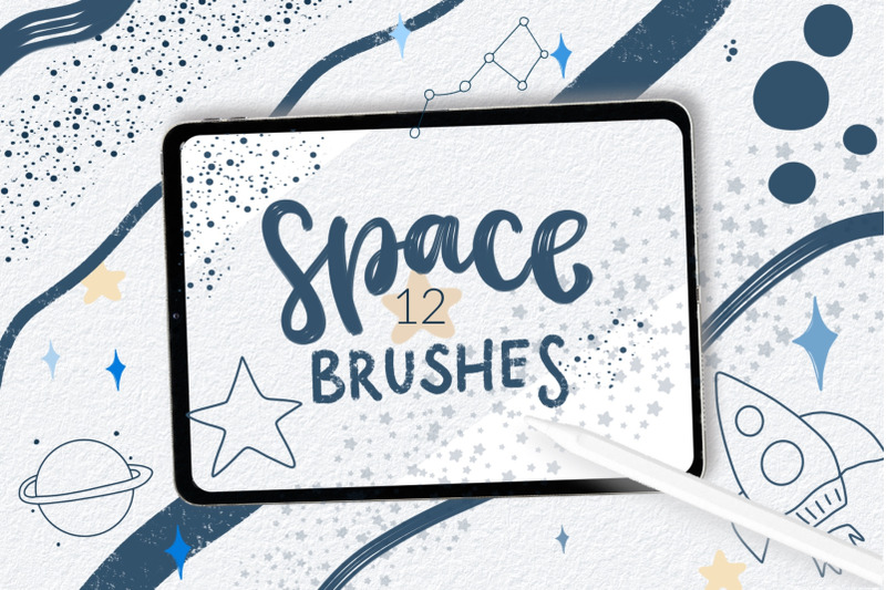 space-procreate-brushes-doodle-space-stamps-for-procreate-space-brus