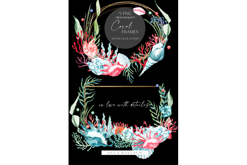 watercolor-coral-clipart-teal-seaweeds-clipart-sea-coral-reef-png