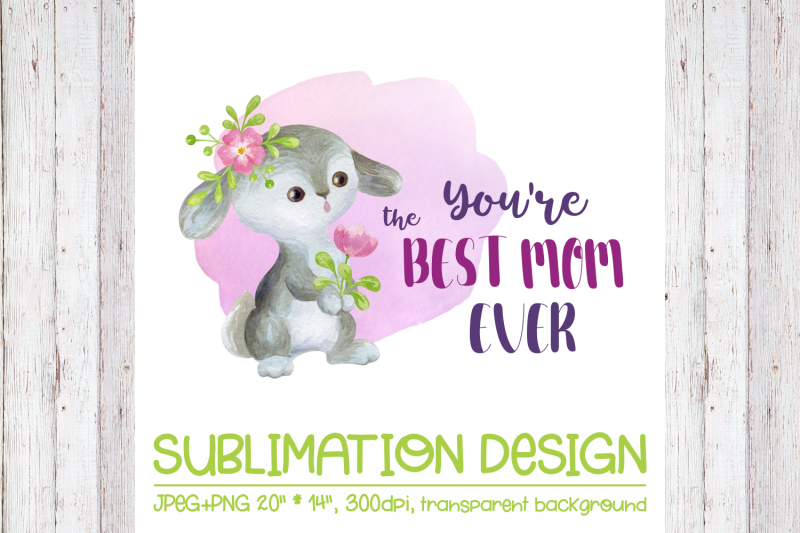 you-039-re-the-best-mom-ever-mother-039-s-day-design-with-bunny