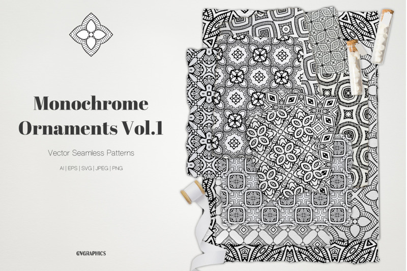 monochrome-ornaments-vector-patterns-vol-1