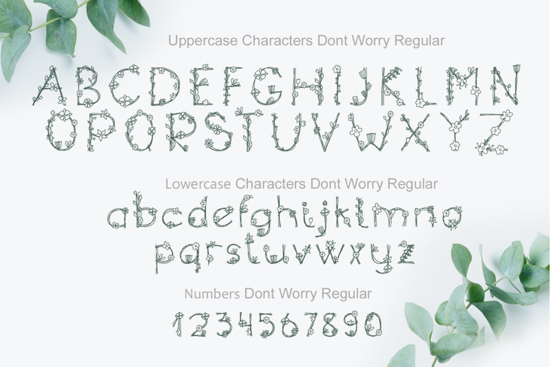 dont-worry-hand-drawn-font