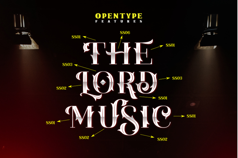 the-lord-music-decorative-font