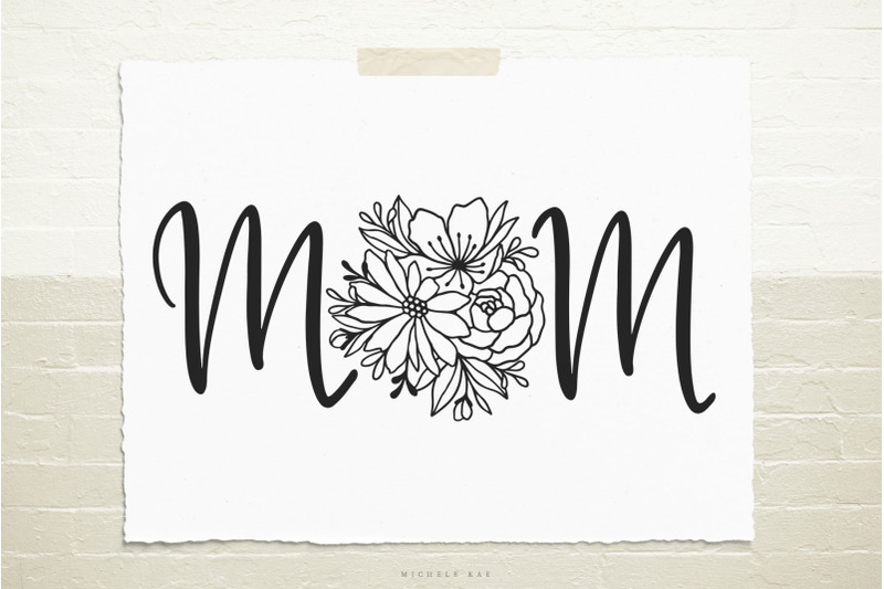 mom-word-with-flowers-svg-cut-file