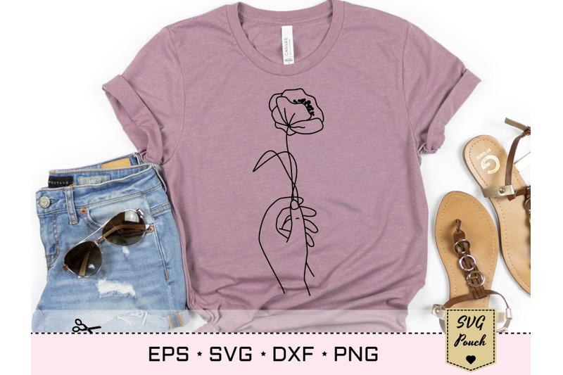 poppy-flower-in-hand-svg