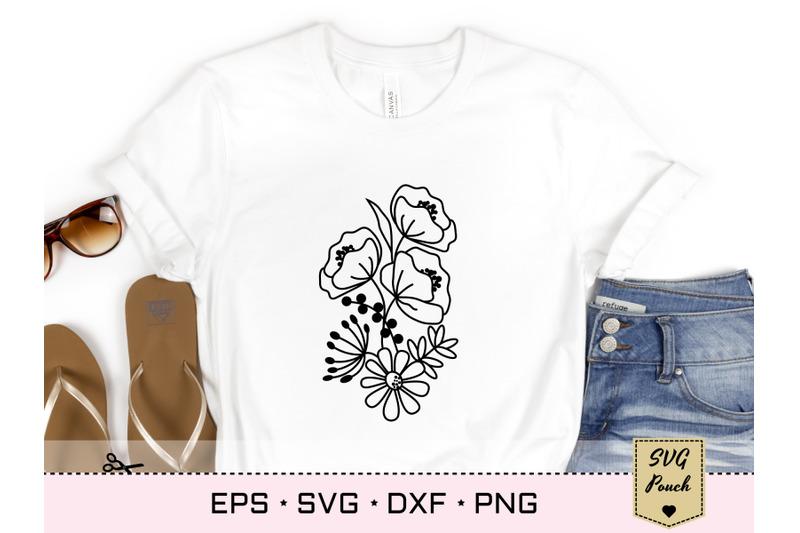 wildflower-bunch-florals-svg