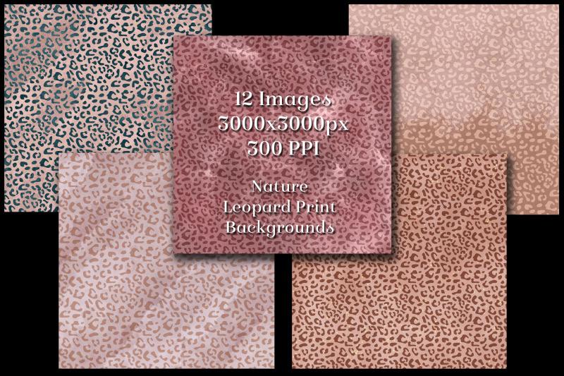 nature-leopard-print-backgrounds-12-image-textures-set