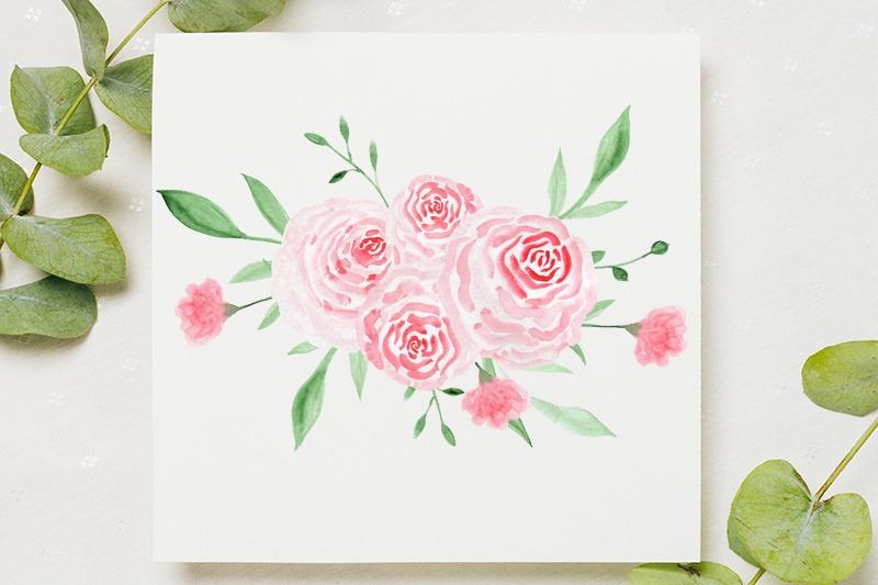 watercolor-gold-floral-frame-wedding-frames