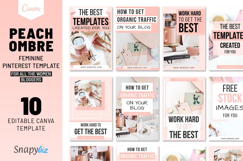 peach-ombre-pinterest-template