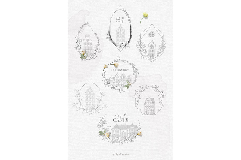 flowered-frames-old-town-story-hand-drawn-authentic-vintage-houses