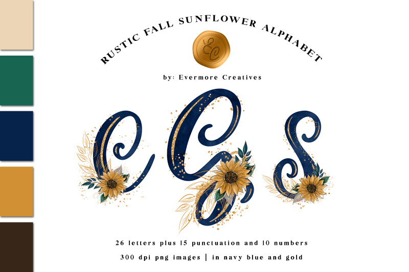 sunflower-monogram-alphabet-rustic-country-chic-letters-amp-numbers