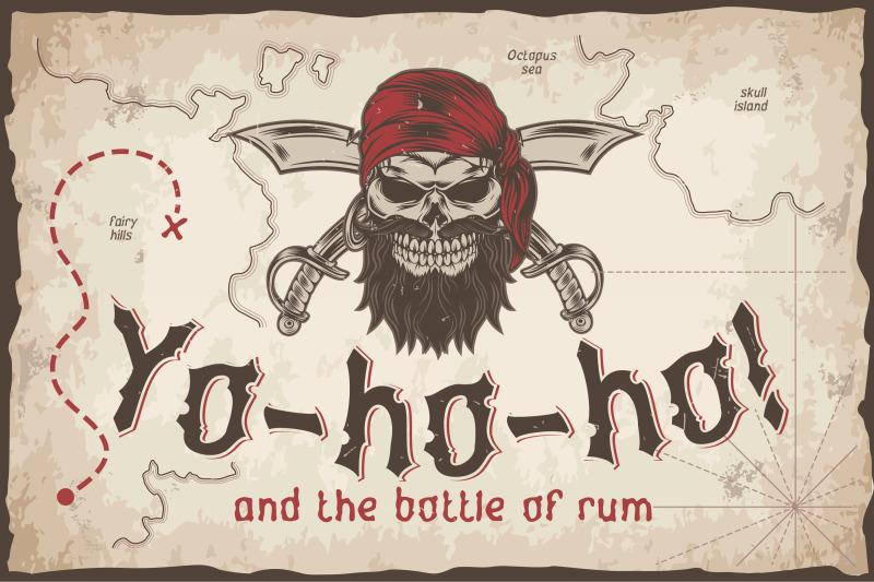 yo-ho-ho-vintage-label-font