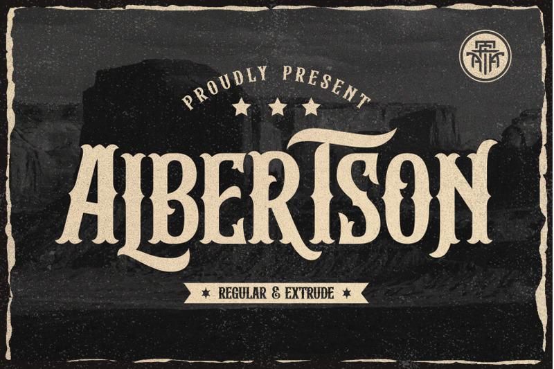 albertson-vintage-font