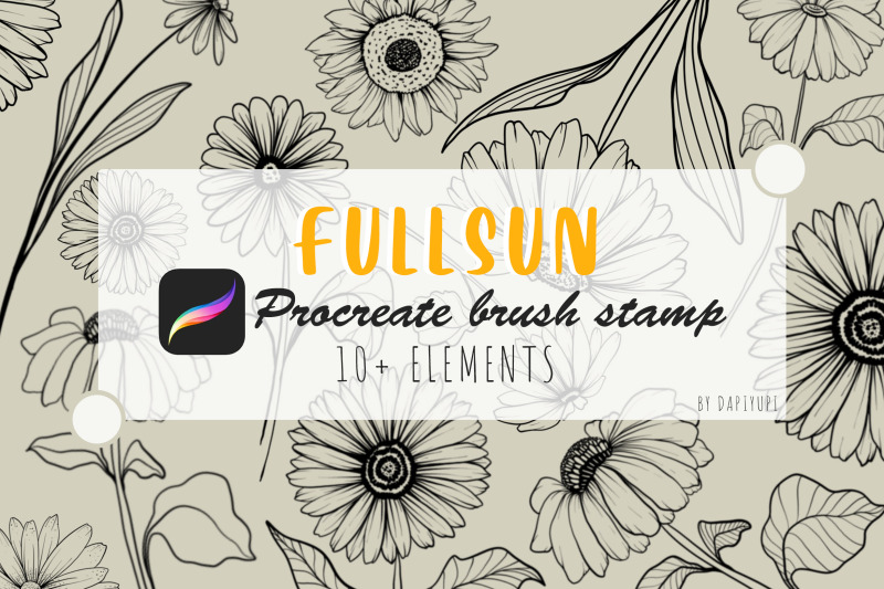 procreate-brush-stamp-sun-flower-stamp