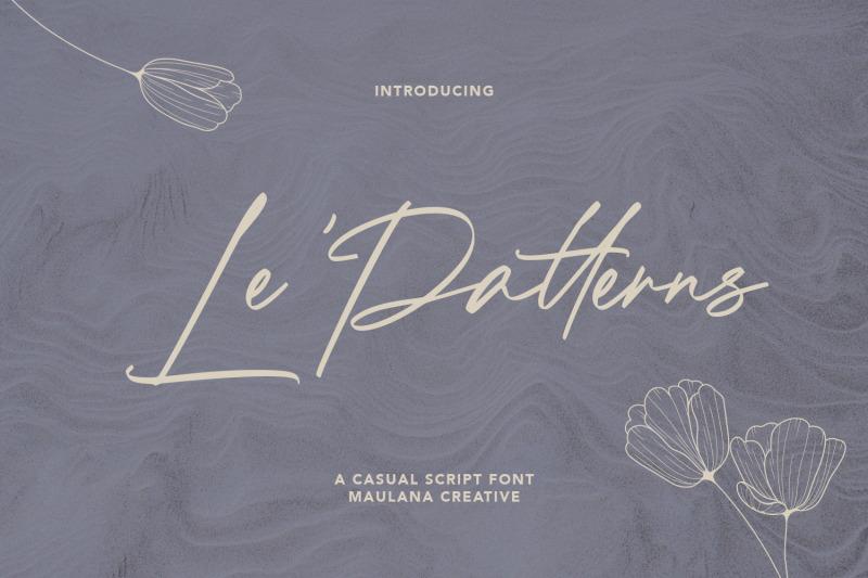 le-patterns-script-font