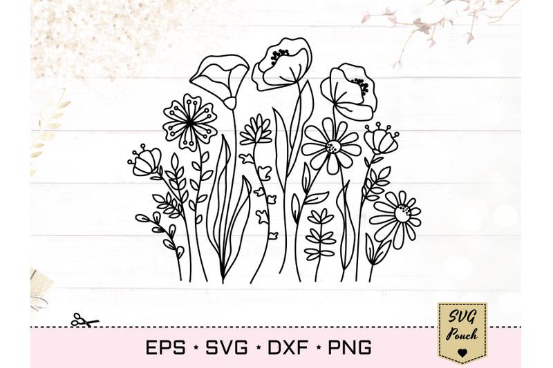wildflower-meadow-border-florals-svg